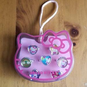 COPY - Hello Kitty adjustable ring set